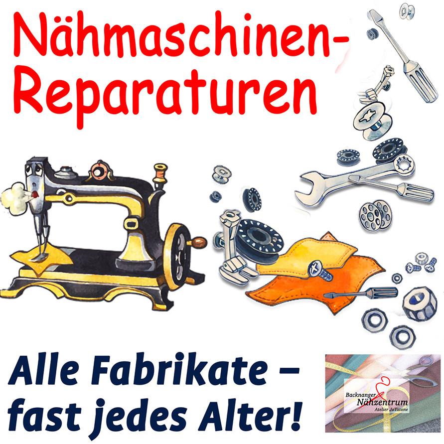 Wir reparieren Ihre Nähmaschine