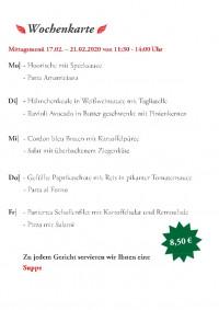 Wochenkarte KW08