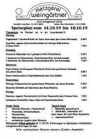 Speiseplan KW 42 - Metzgere...