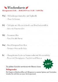 Wochenkarte KW26